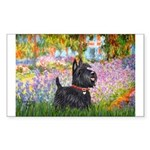 Garden (Monet) - Scotty Sticker (Rectangle)