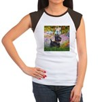 Garden (Monet) - Scotty Women's Cap Sleeve T-Shirt