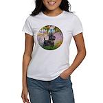 Garden (Monet) - Scotty Women's T-Shirt