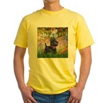 Garden (Monet) - Scotty Yellow T-Shirt