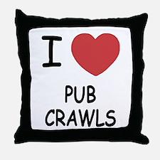 I heart pub crawls Throw Pillow