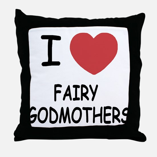 I heart fairy godmothers Throw Pillow