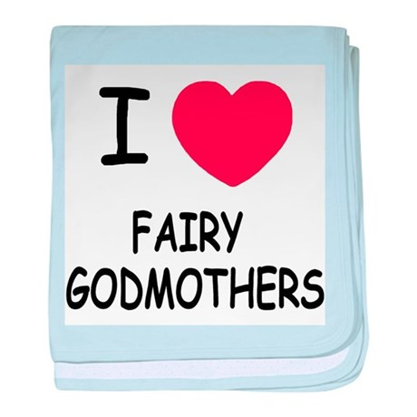 I heart fairy godmothers baby blanket