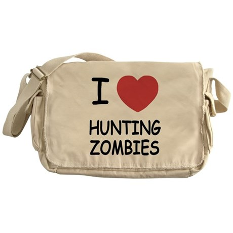 I heart hunting zombies Messenger Bag