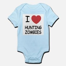 I heart hunting zombies Infant Bodysuit