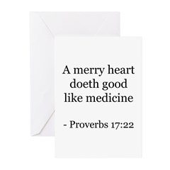 Proverbs 17:22 Greeting Cards (Pk of 10)
