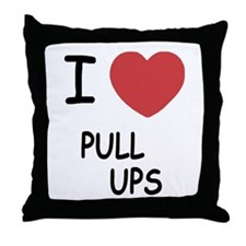 I heart pull ups Throw Pillow