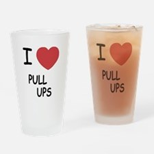 I heart pull ups Drinking Glass