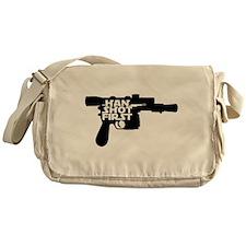 Han Shot First Gun Messenger Bag