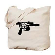 Han Shot First Gun Tote Bag