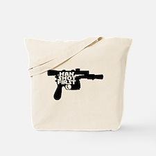 Han Shot First Gun Tote Bag