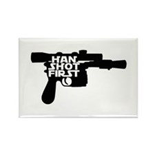 Han Shot First Rectangle Magnet