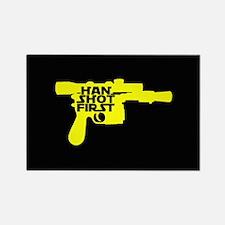 Han Shot First Gun Rectangle Magnet