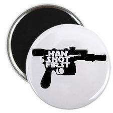 Han Shot First Gun Magnet