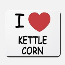 I heart kettle corn Mousepad