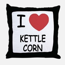 I heart kettle corn Throw Pillow