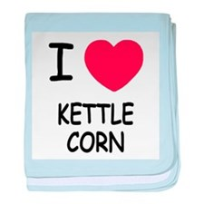 I heart kettle corn baby blanket