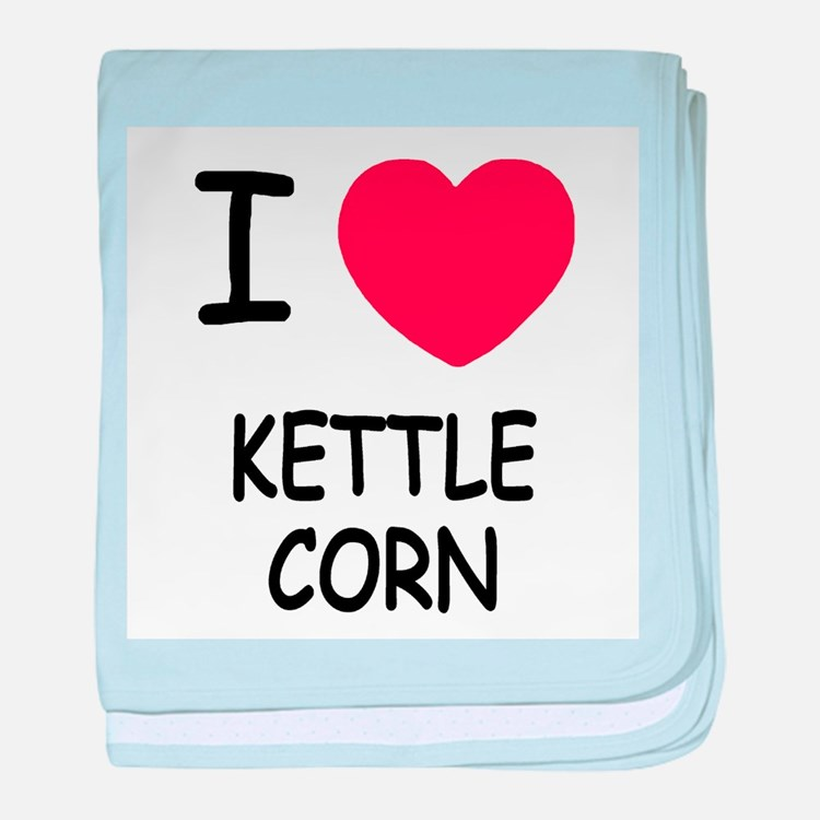 I heart kettle corn baby blanket