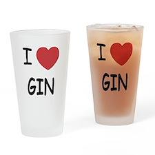 I heart gin Drinking Glass