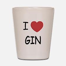 I heart gin Shot Glass