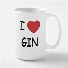 I heart gin Large Mug
