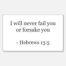 Hebrews 13:5 Rectangle Decal