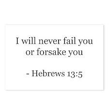 Hebrews 13:5 Postcards (Package of 8)