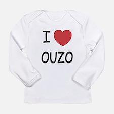 I heart ouzo Long Sleeve Infant T-Shirt