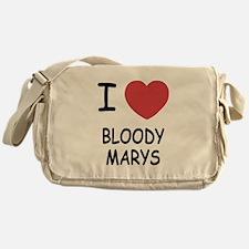 I heart bloody marys Messenger Bag