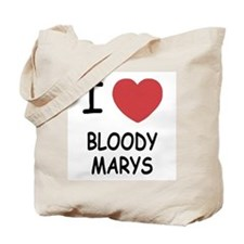 I heart bloody marys Tote Bag