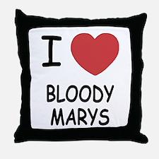 I heart bloody marys Throw Pillow