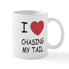 I heart chasing my tail Mug