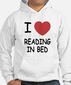 I heart reading in bed Hoodie