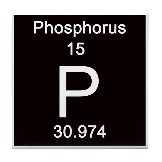 Periodic Table Phosphorus Tile Coaster By Science Lady