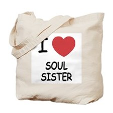 I heart soul sister Tote Bag