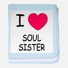 I heart soul sister baby blanket