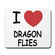 I heart dragonflies Mousepad