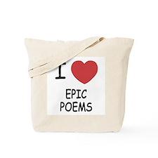 I heart epic poems Tote Bag