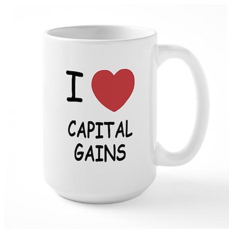 I heart capital gains Large Mug