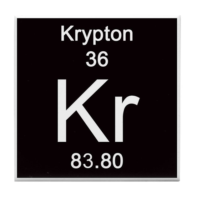 Periodic Table Krypton Tile Coaster By ScienceLady