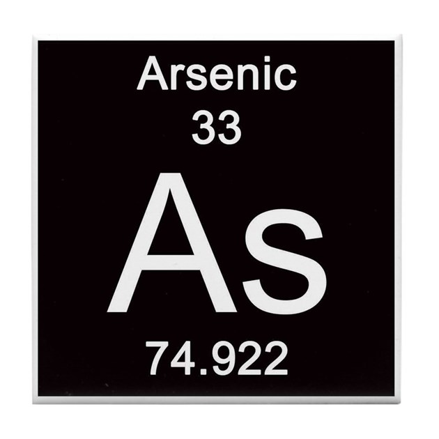 Periodic Table Arsenic Tile Coaster by Science_Lady