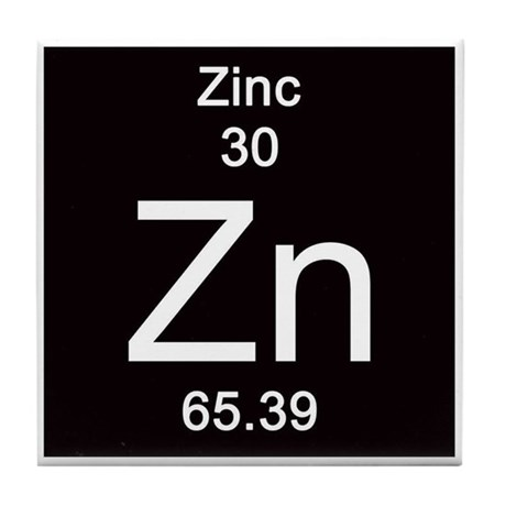 Periodic Table Zinc Tile Zinc Periodic Table