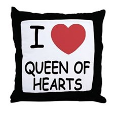 I heart queen of hearts Throw Pillow