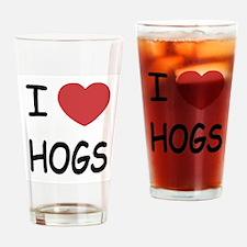 I heart hogs Drinking Glass