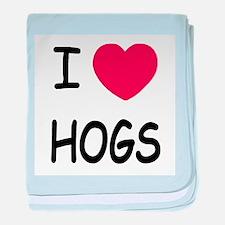 I heart hogs baby blanket