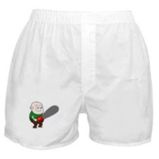 Angry Chainsaw man Cartoon Boxer Shorts