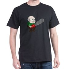 Angry Chainsaw man Cartoon T-Shirt