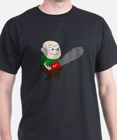 Angry Chainsaw man Cartoon T-Shirt
