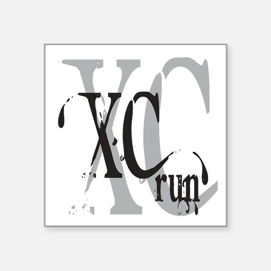 "Cross Country XC Square Sticker 3"" x 3"""