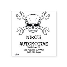 "Nikos Auto Square Sticker 3"" x 3"""